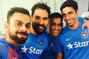 Virat Kohli's selfie with MS Dhoni, Ashubhai, Yuvipa tells this about Team India