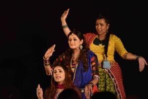 The audience watches the play Rangrasiya Balam at the Kala Ghoda Arts Festival last year.
