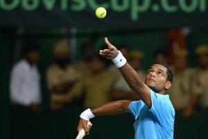 In he absence of Saket Myneni, Ramkumar Ramanathan will spearhead India's challenge as the No 1 singles player against New Zealand in the Davis Cup Asia/Oceania Group 1 tie starting on Friday. Vishnu Vardhan will partner with Leander Paes in the doubles.