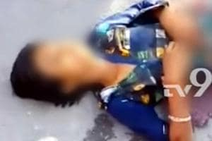 The video footage that has now gone viral shows the victim lying in a pool of blood crying for help.
