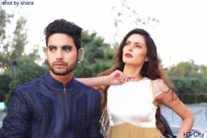 Majid Khan doing a fashion shoot for designer Pawan Sachdeva