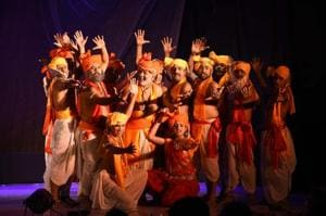 Panchali Ki Shapath, a Hindi play, uses Draupadi's public humiliation to address violence against women. It's one of several plays to retell epics with a modern message.