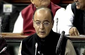 New Delhi: Union Finance Minister Arun Jaitley presenting the Union Budget 2017-18 in Lok Sabha in New Delhi on Wednesday. PTI Photo / TV Grab