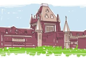 An illustration of the Bombay High Court.