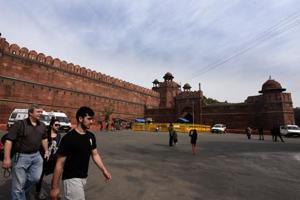 A senior police officer said that the box  containing grenade was found near Lahori Gate, which is the main entrance to Red Fort.