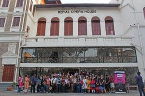 The theme of the walk was Mumbai's entertainment industry and its evolution from street theatre to cinema, plus the rise of operas, with a tour of the opulently revamped Opera House.