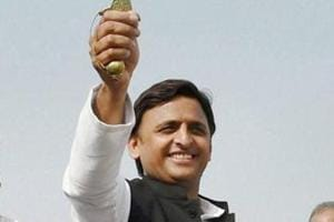 Uttar Pradesh chief minister Akhilesh Yadav Yadav at the opening ceremony for the of Agra-Lucknow expressway in Unnao in November 2016.