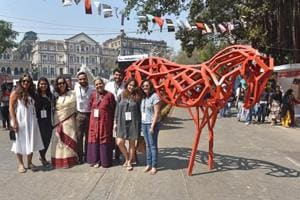 The volunteers of HT Kalaghoda Arts Festival in Mumbai make sure that the installations remain untarnished.