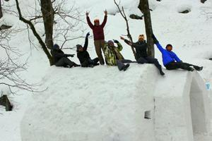 Manali skiers claim to have built India's first igloo. Check out the...