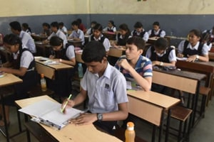 Class 10 students