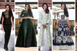 Rekha has the personality to rock the trickiest of fashion looks (NOTE: These pictures have been photoshopped to showcase the stylist's fashion picks for Rekha.)