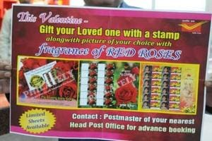 Jharkhand postal dept imports 1000 rose-scented stamps from Germany for V-Day