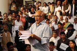 Opposition boycotts Bengal budget, holds mock session outside Assembly
