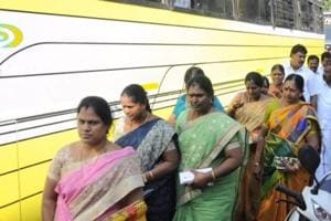 The MLAs were packed into luxury buses, first taken to three or four hotels in Chennai and then brought to this resort.