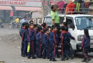 Gurgaon schools cannot use private vans to ferry children from April 1