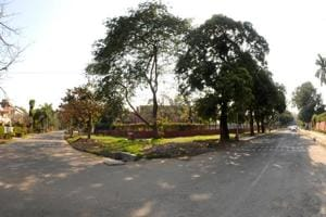 The road in Sector 9 where the murder took place.