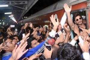 The complainant said a stampede-like situation was created on the platform at the Kota railway station after Shah Rukh Khan's arrival.