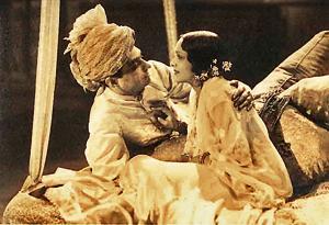 Himanshu Rai and Devika Rani in their first talkie, Karma, 1933