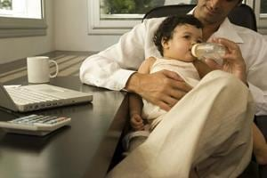 Pregnancy stress affects men too: Would-be fathers may be at risk of...