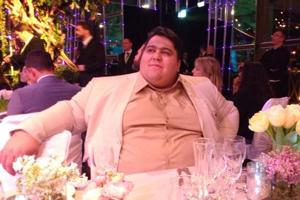 Siamand Rahman, two-time Paralympic powerlifting champion, at the Laureus World Sports Awards.