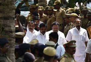AIADMK senior leader and highways minister Edappadi K Palaniswami in Chennai on Tuesday.