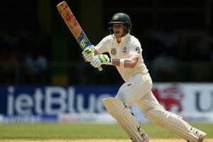 Australia cricket team skipper Steve Smith and Shaun Marsh (not in pic) scored centuries after openers David Warner and Matt Renshaw fell to Navdeep Saini early onDay 1 of the warm-up match vs India A t Brabourne Stadium in Mumbai on Friday. Catch live cricket score from Day 1 of the India A vs Australia warm-up game here.