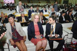 Foreign delegates at the summit