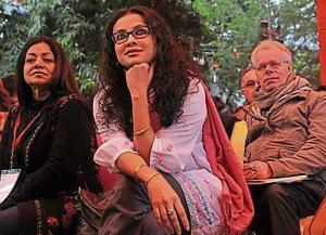 Nandana Sen, actor and daughter of Nobel laureate Amartya Sen, at the Jaipur Literature Festival in 2013.