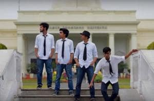 The video is based on English singer-songwriter Ed Sheeran's song, and features four IIT-ians dancing to the peppy song.