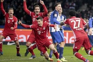 Bayern Munich pulls off injury-time draw against Hertha Berlin in...