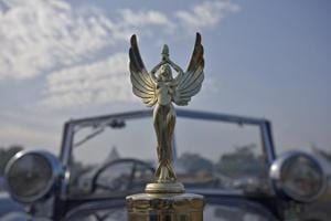 Eagles and archers: The hood ornaments on display at 21 Gun Salute...