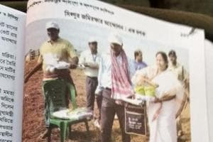 Mamata and her Singur comrades walk into school text books