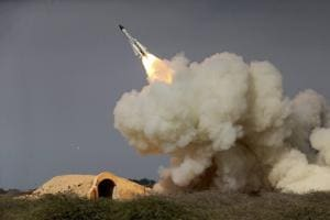 Iran launches 'advanced' rockets during military exercise in desert