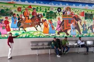 Royal canvas at Kota railway station gives life to dying art form