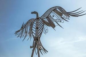 The park has 12 sculptures made of about 20-25 tonnes of waste by artists from across the country.