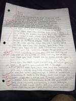 What happens when your ex-GF writes you a letter? This man graded it...