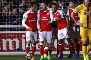 Theo Walcott scores 100th goal, Arsenal F.C. beat Sutton United in...