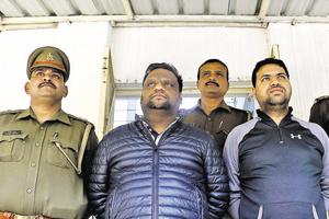 The two, Anurag Garg and Sanjeev Verma, were arrested on Friday from the SSP office in Surajpur, when they came there to plead their innocence.