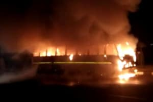 School bus catches fire in SAS Nagar