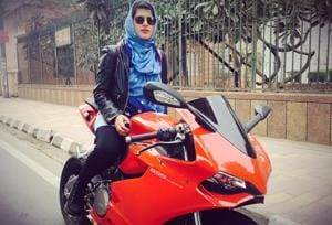 Roshni Misbah, a 22 year old 'Hijab-clad' super-biker is breaking all...