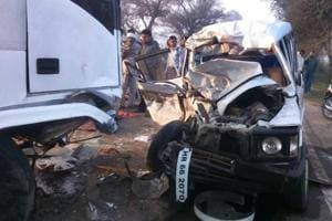 Two killed, one critically injured in collision on Gurgaon-Pataudi...