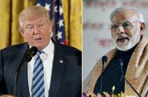 US President Donald Trump, PM Narendra Modi.  The parallels between Trump's and Modi's relationships to the media are clear. Both leaders enjoy using Twitter to circumvent traditional channels.