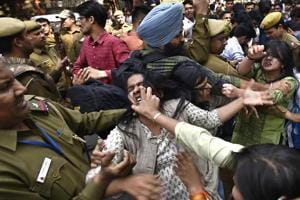 Clashes began on Wednesday as some DU students, led by members of AISA and SFI, took out a march on Wednesday demanding action against the ABVP members.