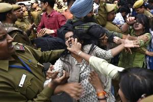In pictures: Students clash over Ramjas College's literary...