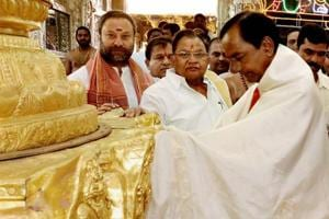 Telangana CM under flak for 'brazen' Tirupati offering of gold worth...