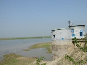Intake well of Barari Water Works, in Bhagalpur.