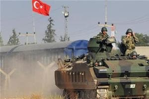 Turkish military says 56 Islamic State militants killed in Syria