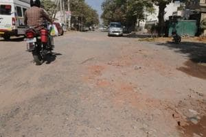 Roads in Gurgaon's licensed colonies go missing under potholes