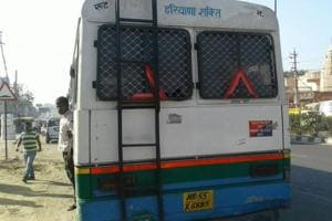 Transport minister stops 'fake' Haryana Roadways bus