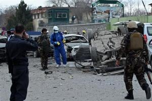 Car bomb kills 2 soldiers, wounds 3 others in Afghanistan